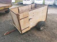 Quad atv livestock trailer very good tyres