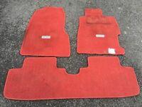 Rare Honda Civic Type R EP3 JDM Red Mats