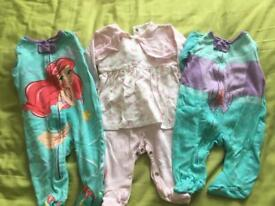 0 to 3 month sleepsuits and dress