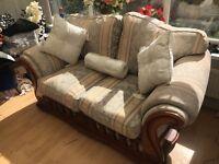 Laura Ashley inspired duckegg blue/ivory sofa