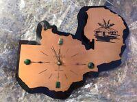 Zambia Copper Map Clock