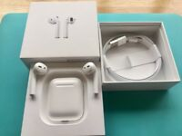 Apple AirPods White with Charging Case and Original Box Excellent condition.