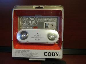 coby compact mp3 stereo speaker system NEW