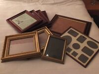 A selection of picture/photo frames