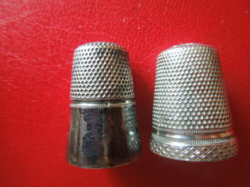 J3257 ANTIQUE  TIMBLES GERMAN  800 SILVER  1 X  REPAIRED  TOP