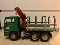 Bruder toy truck (Man timber truck)