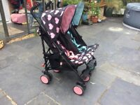 Immaculate Cosatto twin pushchair with unused raincover, used for sale  Somersham, Cambridgeshire