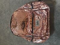 ROSE GOLD SEQUIN JUSTICE BACKPACK