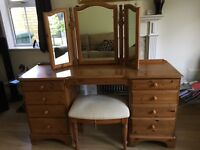 Ducal Dressing Table with Stool and Mirror