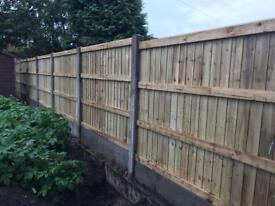 Superb quality pressure treated heavy duty fence panels