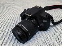Canon 1200D DSLR + basic lens (18-55mm) + 8GB SD card