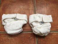 Little Lamb Bamboo cloth Nappies x2