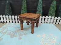 SOLID MEXICAN WOOD SMALL COFFEE/SIDE TABLE VERY SOLID TABLE AND IN VERY GOOD CONDITION