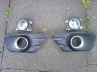 Ford Fiesta ST / Zetec S (02-08) FOG LIGHT AND SURROUND (Breaking Spares) front bumper mk6 mk7