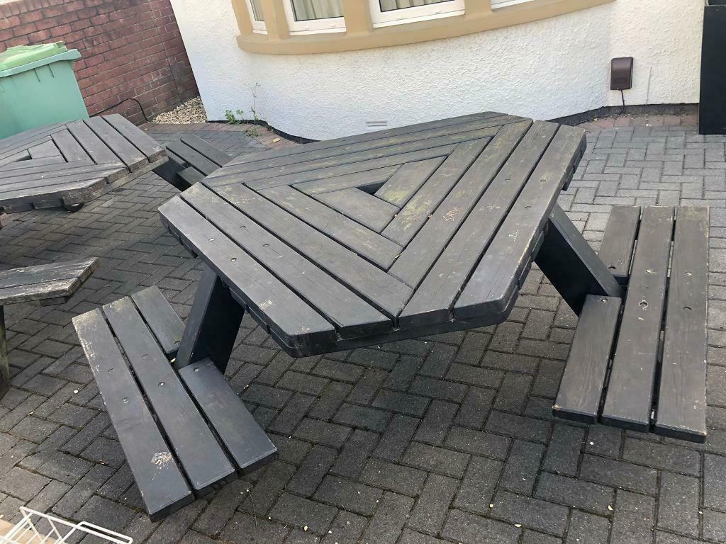 Stupendous Wood 6 Seater Garden Pub Picnic Bench Table In Penylan Cardiff Gumtree Gmtry Best Dining Table And Chair Ideas Images Gmtryco