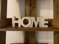 NEXT WOODEN HOME TEALIGHT HOLDER