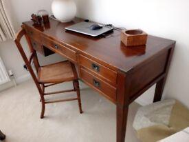 Oak console table / writing desk
