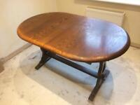 Dining table extending 4 chairs
