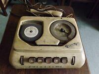 "Vintage - Rare Collectable ""Grundig"" Stenorette Dictating Machine c/w Mic"