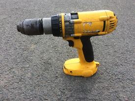 Dewalt 18 v XRP Hammer Drill - Bare unit, Spares or repair.