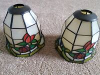 Retro Tiffany genuine stained glass multi coloured lamp shades. Genuine items from 60's