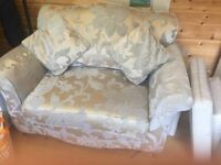 For sale 2 love chairs, 1 two seater sofa and foot stool