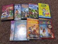 9 x children's DVDs