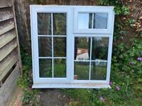UPVC PVCU White Georgian Style Window