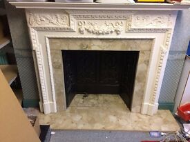 Marble and Cast Iron Fireplace