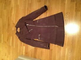 Karen Millen coat purple UK 6