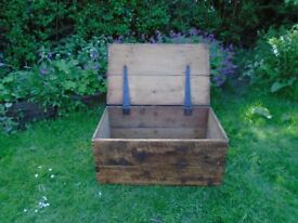 Vintage Rustic wooden Chest/Trunk