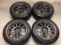 5 x 114 Rota G Force Wheels and Tyres 8x17