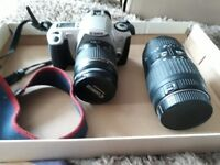 Canon film camera and lens