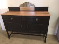 Georgian sideboard, painted with Annie Sloan chalk paint in graphite. Shabby Chic / Vintage