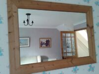 Large mirror with Pine edge