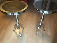 Silver side stools