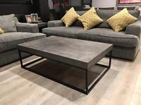 Coffee Table - Concrete effect. Metal Frame