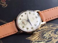 Vintage 9k 9ct solid gold Smiths Deluxe mens watch