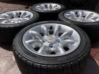 """Genuine 13"""" Classic Rover Mini Lite Cooper Sport Alloy wheels and Tyres 4x101.6"""