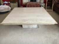 2 x Italian Travertine Tables (Coffee and Lamp)