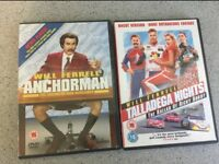 Will Ferrell DVD Film Bundle