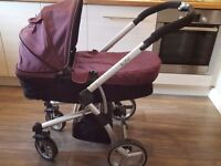 Travel system, pram and pushchair. Suitable from birth. Lots of accessories