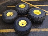 John Deere 4x2 Gator tyres and rims (complete set)