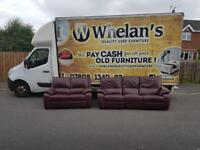 3&2 seater sofa in a tan leather Hyde (3 seater is fully reclining) £295