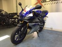 Yamaha YZF R125 Sports Motorcycle, ABS, Alarm, Akrapovic Exhaust, Crash Bungs, Adjustable Levers