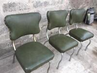 3 retro chairs nice shape leather well made up cycle
