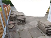 Variety of concrete paving slabs