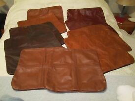 Real leather cushion covers