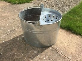 Galvanised mop bucket - could be used as garden ornament