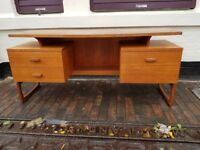 VINTAGE F BENNETT MID CENTURY DESIGN FOR E GOMME G PLAN QUADRILLE DESK SIDEBOARD DRESSING TABLE GC